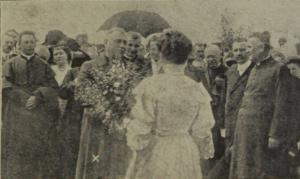 eibesthaler-passionsspiele-begruessung-fuersterzbischof-dr-nagl-1911
