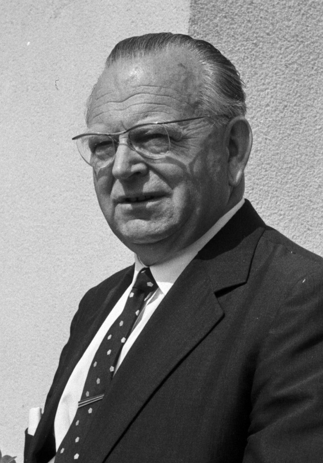 Landesrat Emil Kuntner in 1960er Jahren