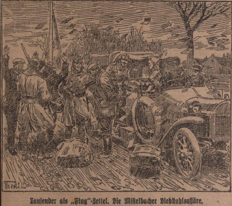 Darstellung auf der Titelseite der Illustrierten Kronen Zeitung am 23. März 1919