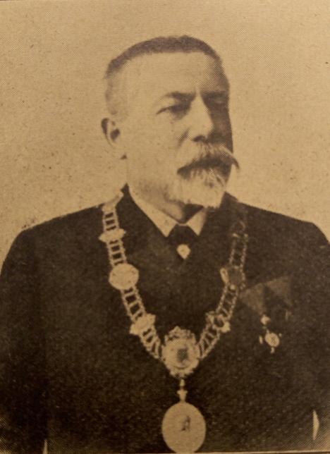 Bürgermeister Freund 1908 abgebildet im Bürgermeisteralmanach